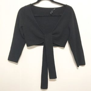 Robert Rodriguez Cropped Tie Front Sweater Size XS